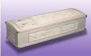 彫刻棺(布団つき)